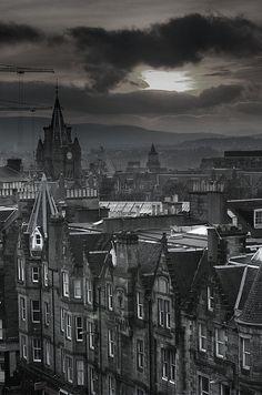 Evening on Edinburgh , Scotland by Martin Tenbones