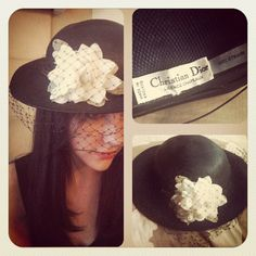 Vintage late 1950s Dior Chapeaux Made in England by BarbeeVintage, $47.00