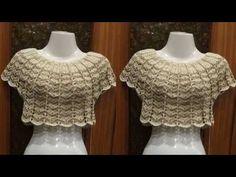BLUSAS TOP, PLAYERAS Y TODO REALIZADO A CROCHET - YouTube Black Crochet Dress, Crochet Crop Top, Crochet Cardigan, Crochet Lace, Diy Crafts Knitting, Diy Crafts Crochet, Crochet Collar, Crochet Videos, Diy Dress