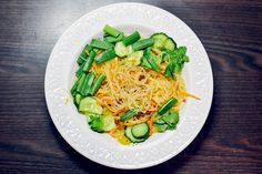 Glass noodles with vegetables, 150 cal | Alina Zamogilnykh
