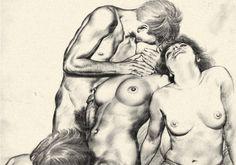 Thomas Leycester Poulton - was an English magazine and medical book illustrator. Grey Green Eyes, English Magazine, English Gentleman, Pencil Art, Erotic Art, Amazing Art, Images, Sketches, Fine Art