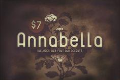 Annabella Retro Regular by MeHi / Goods on @creativemarket