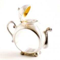 ART DISTRICT - Teapot ring in Silver. From www.artdistrict.dk