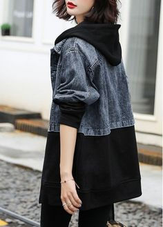 trendy Outerwear Coats with competitive price Denim Fashion, Hijab Fashion, Fashion Dresses, Womens Fashion, Fashion Tips, Fashion Ideas, Look Jean, Korean Street Fashion, Cute Casual Outfits