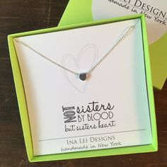 Like a Sister - Be(+) Collection: HEART FRIENDSHIP NECKLACE: Tell your friend who is like a sister how special she is to you with this sweet little heart necklace. - Delicate 16 silver plated chain - Lobster clasp closure - 6mm smooth heart charm - Message card - Packaged in a gift box