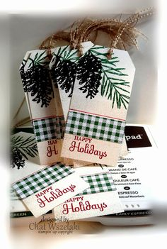 Stampin' Up Christmas Tags