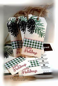 Stampin' Up Christmas Tags