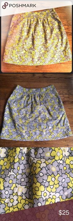 vintage mod skirt high waisted, floral Skirts