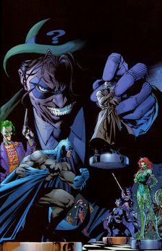 Riddler pawns Batman/Hush by Jim Lee