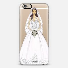 Duchess Kate bridal illustration phone case by Brooke Hagel, @brooklit on @casetify #KateMiddleton #bridalillustration