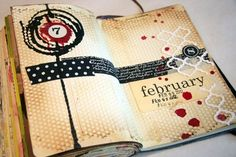 Art Journal page by Donna Downey.  blog is full of art journal ideas by justine