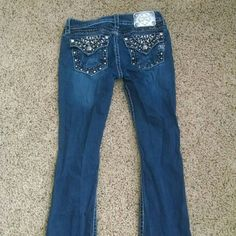 Miss me jeans Girl blue jeans 34 inseam Miss Me Jeans Boot Cut