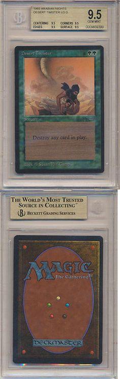 MTG Individual Cards 38292: Mtg Magic The Gathering Bgs 9.5 Quads Arabian Nights Desert Twister *Gem Mint A -> BUY IT NOW ONLY: $199.99 on eBay!