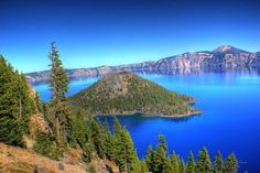"""0013 Wizard Island2 Crater Lake"" by Vincent Louis, Vancouver Washington // Imagekind.com – Buy stunning, museum-quality fine art prints, framed prints, and canvas prints directly from independent working artists and photographers."
