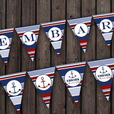 young womens 2015 theme banner, embark in the service of God, printable banner. nautical theme banner, anchor banner cute for new beginnings or young women in excellence!