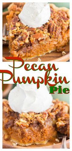 pecan pie cheesecake recipe A thick, luscious layer of pumpkin pie, and an equally thick, sweet, ooey-gooey layer of pecan pie! Pumpkin Pecan Pie, Pumpkin Pie Recipes, Baked Pumpkin, Pumpkin Dessert, Pecan Pie Cake, Pecan Pies, Just Desserts, Dessert Recipes, No Bake Pumpkin Cheesecake