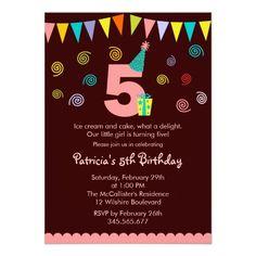 5th Birthday Children's Party Invitation