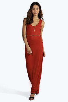 bc9e7ef7f33e Laura Racer Back Maxi Dress alternative image Vestido Bodycon, Color  Naranja, Burnt Orange Dress
