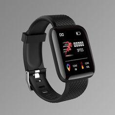 Smart Sport Watch Watches Digital LED Electronic Wrist Watch - Black / China