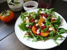 Eighty Twenty: 80--- Persimmon Salad with Pomegranate Vinaigrette...