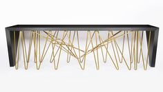 Cosentino and Daniel Germani Create a Beautiful Console from Chaos #posh #homedesign #lux #homedecor #luxury