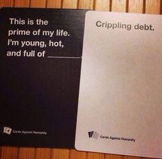 crippling debt