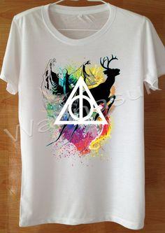 Expecto Patronum T Shirt Custom Handmade Screen Print by wannasuk