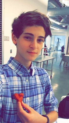 David Mazouz post this picture on snapchat and he is looks so handsome. #DavidMazouz