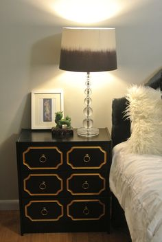 Pair of Black and Gold Espana Inspired Draper Chests Dresser As Nightstand, Nightstand Ideas, Accent Decor, Design Elements, Interior Design, Inspired, Trending Outfits, Table, Inspiration