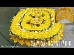Crochê para Banheiro - JOGO DE BANHEIRO PRIMAVERA - Capa Vaso Sanitário 3/4 - YouTube