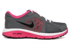 Amazon.com: Nike Kids NIKE DUAL FUSION RUN (GS) RUNNING SHOES: pink and gray