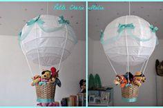Lampadario Mongolfiera #DIY #faidate #bambino #cameretta #idea #baby #bedroom