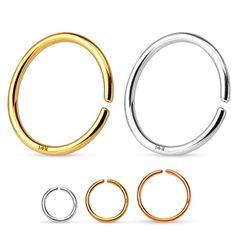 Simpel endeløs ring af 14 karat guld