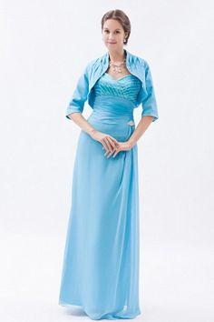 A-Line Chiffon Classic Mother Of Bride Dress wr1147 - http://www.weddingrobe.co.uk/a-line-chiffon-classic-mother-of-bride-dress-wr1147.html - NECKLINE: V-Neck. FABRIC: Chiffon. SLEEVE: Half Sleeves. COLOR: Blue. SILHOUETTE: A-Line. - 125.59