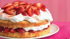 Cake, cream, and berries combine in a treat that's twice as delectable as the sum of its parts. The buttery cake soaks up the strawberry juices, while the whipped cream adds an airy richness.