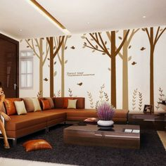157 inch Large Tree Wall Decals Stickers for Rooms - Forest Tour