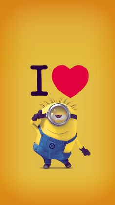 ↑↑TAP AND GET THE FREE APP! Lockscreens Art Fun Cartoon Despicable Me Minions 2015 Yellow Blue HD iPhone 6 Lock Screen