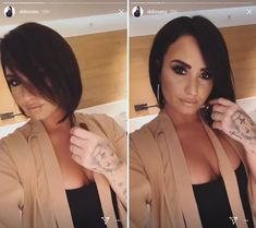 Demi Lovato's New Haircut Will Convince You to Ditch Your Lob Demi Lavato Short Hair, Demi Lovato Haircut, Demi Lovato Blonde Hair, Demi Lovato Hairstyles, Short Hair Makeup, Hair And Makeup Tips, Cute Haircuts, New Haircuts, Short Bob Styles
