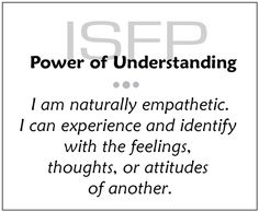 ISFP || http://www.personality-power-for-everyday-living.com/ISFP.html