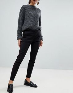 84048b04c232 Selected Femme Cigarette Trouser With Front Pleats