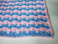 Sugar Candy Stripes Crochet Baby Blanket/ intermediate / FREE CROCHET pattern