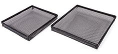 Kitchen + Home Oven Crisper Trays - Set of 2 Non-stick Mesh Crisper Trays -Perfectly Crisp Fries, Chicken Tenders, Tater Tots and More Without Butter or Oil -Dishwasher, Microwave & Freezer Safe