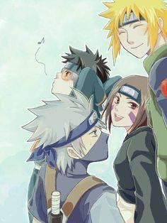 <3 Minato, Kakashi, Rin & Obito (Team Minato)