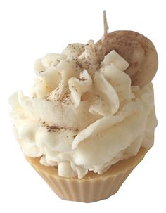 Cupcake Candle in Cinnamon Bun by Everything Dawn Bakery Candle Treats #cupcakecandle #cinnamon #fakecupcake