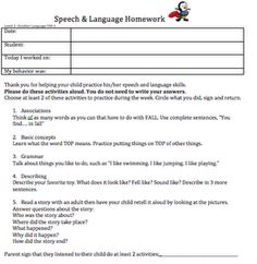 If Only I Had Super Powers....: October Speech Therapy Homework