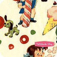 Retro Basics Cream Candy Shop Yardage SKU# CX5059-CREM-D Cream Candy, Nursery Fabric, Fat Quarter Shop, Candy Shop, Quilt Patterns, Quilts, Retro, Sewing, Shopping