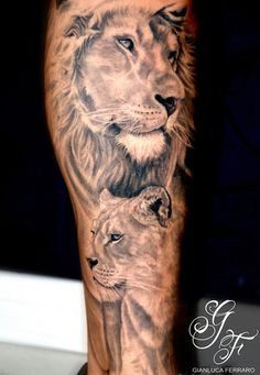 Lion tattoo - 50 Examples of Lion Tattoo | Art and Design