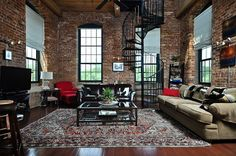 Historical penthouse loft at Mills Mill