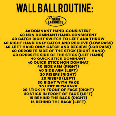 Practice should be just as fun and beneficial as the game! Hone your skills with these wall ball drills.