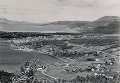 Fauske Nordland fylke flyfoto stp 1954 Foto: Mittet Norway, City Photo, Country, Pictures, Rural Area, Country Music